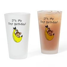 monkeyboyfirstbday Drinking Glass
