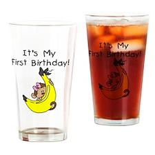 monkeygirl1stbday Drinking Glass