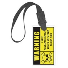 WARNING-c.d.sideways Luggage Tag