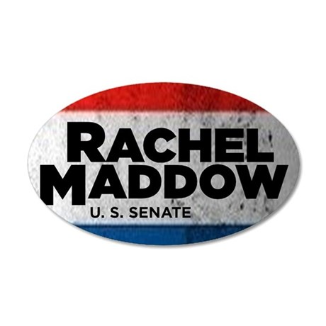 ART Shirt Rachel Maddow for  35x21 Oval Wall Decal