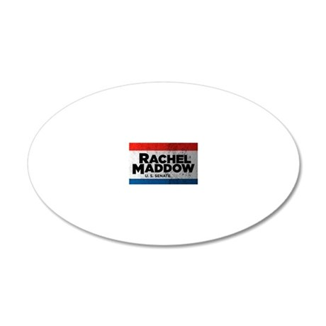 ART Shirt Rachel Maddow for  20x12 Oval Wall Decal