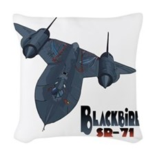 Blackbird-10 Woven Throw Pillow