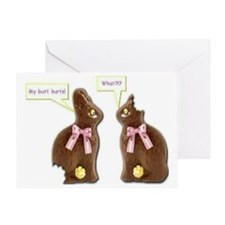 2-Bunnies1 Greeting Card
