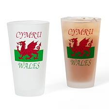 Wales-Cymru Drinking Glass