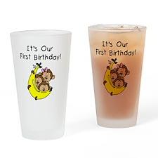 MONKEYTRIP1STBDAY Drinking Glass