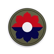 "9th Infantry Division 3.5"" Button"