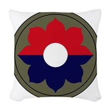9th Infantry Division Woven Throw Pillow