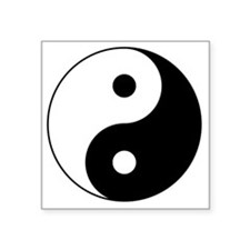 "Yin_Yang2 Square Sticker 3"" x 3"""