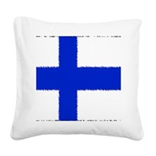 Finland Square Canvas Pillow