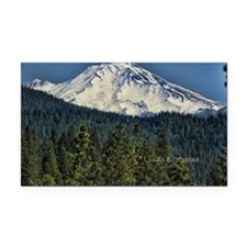 shasta Rectangle Car Magnet
