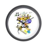 Jazz It Up Wall Clock