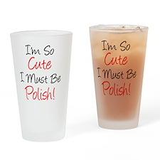Im So Cute Polish Drinking Glass