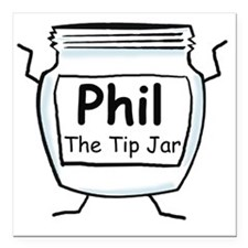 "phil_label_zazzle Square Car Magnet 3"" x 3"""