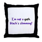 Not a Goth Throw Pillow
