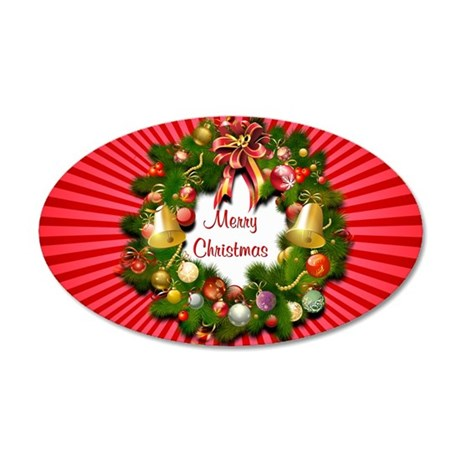 Xmas Wreath Wall Decal