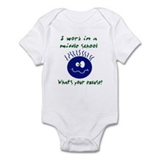 work in middle school Infant Bodysuit