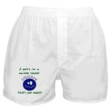 work in middle school Boxer Shorts