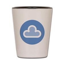 white-cloud1-disc3 Shot Glass