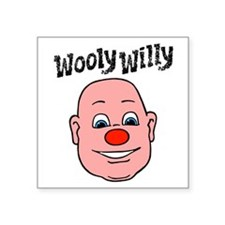 "wooly willy Square Sticker 3"" x 3"""