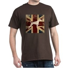 Standard Fit Round Neck - Vizsla On Union Jack
