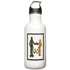 HB Cats with fish cake Water Bottle