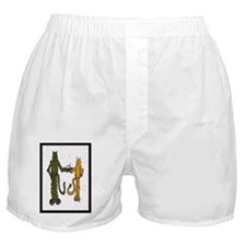 HB Cats with fish cake Boxer Shorts