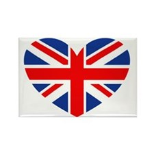 british heart Rectangle Magnet