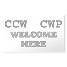 CCW CWP Welcome here sticker