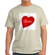 I love Debbie products Ash Grey T-Shirt