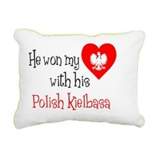 Won My Heart Polish Kiel Rectangular Canvas Pillow