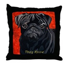 Pugs Are Bright Throw Pillow