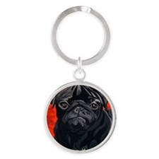 Pugs Are Bright Round Keychain