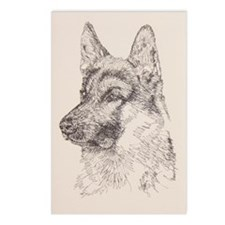 German_Shepherd_KlineSq Postcards (Package of 8)