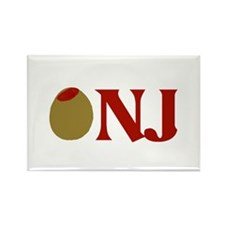 Olive (I Love) NJ Rectangle Magnet