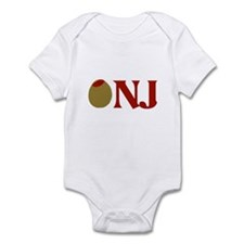 Olive (I Love) NJ Infant Bodysuit