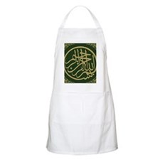 bismillah_gold_filla_on_green_lg Apron