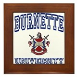 BURNETTE University Framed Tile