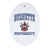 BURNETTE University Oval Ornament