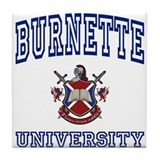 BURNETTE University Tile Coaster