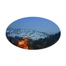 bran castle  Oval Car Magnet
