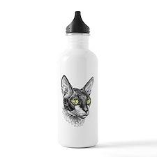 Cornish Rex for darks Water Bottle
