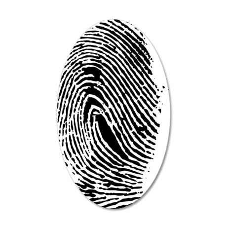 Fingerprint 35x21 Oval Wall Decal