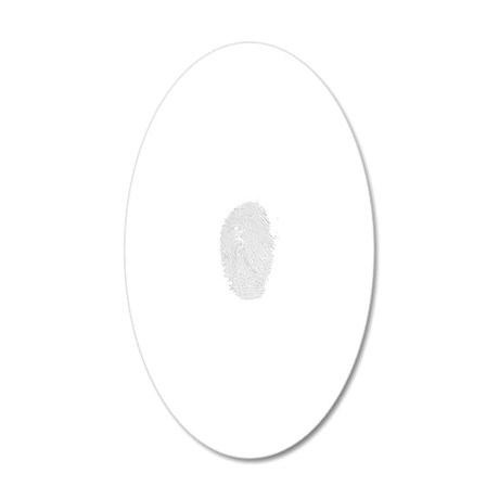 fingerprint - white 20x12 Oval Wall Decal