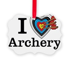 I Heart Archery Ornament