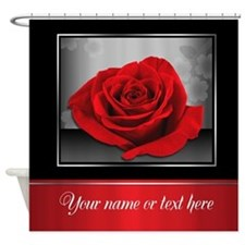 Rich Elegant Red Rose Personalized Shower Curtain