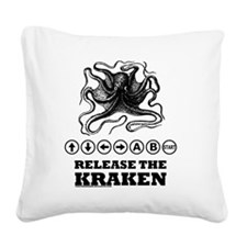 Kraken Release Cheat Code Square Canvas Pillow