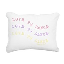 love_to_dance_1 Rectangular Canvas Pillow