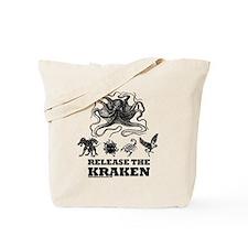 kraken and mythological beasts Tote Bag
