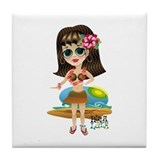 HULA LULA Tiki Princess Tile Coaster