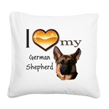 Ilovemygermanshephardwords Square Canvas Pillow